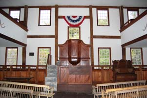 Interior, Fremont Meetinghouse