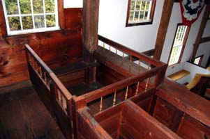 Pew in Balcony, Fremont Meetinghouse