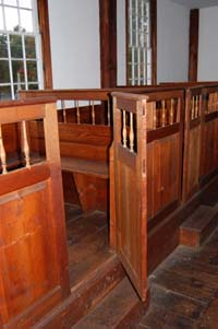 Pew Door, Fremont Meetinghouse