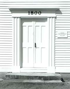 Door, Fremont Meetinghouse