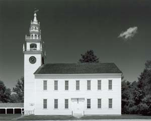 Jaffrey NH Meetinghouse and Cloud